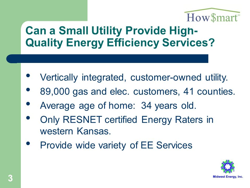 3 Can a Small Utility Provide High- Quality Energy Efficiency Services.