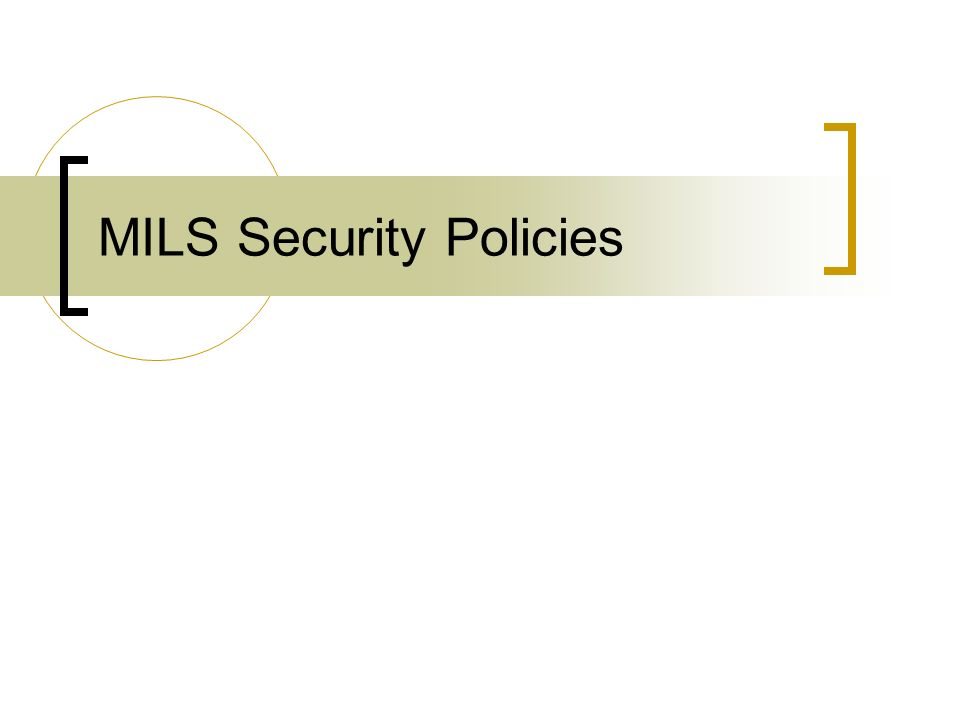 MILS Security Policies