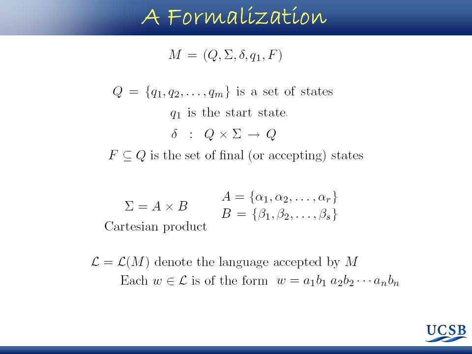 A Formalization