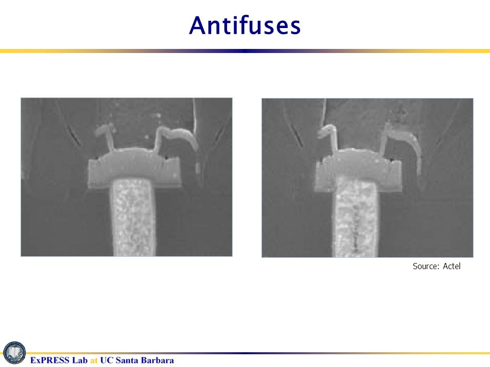 Antifuses Source: Actel