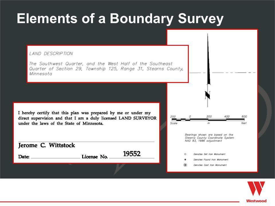 Elements of a Boundary Survey