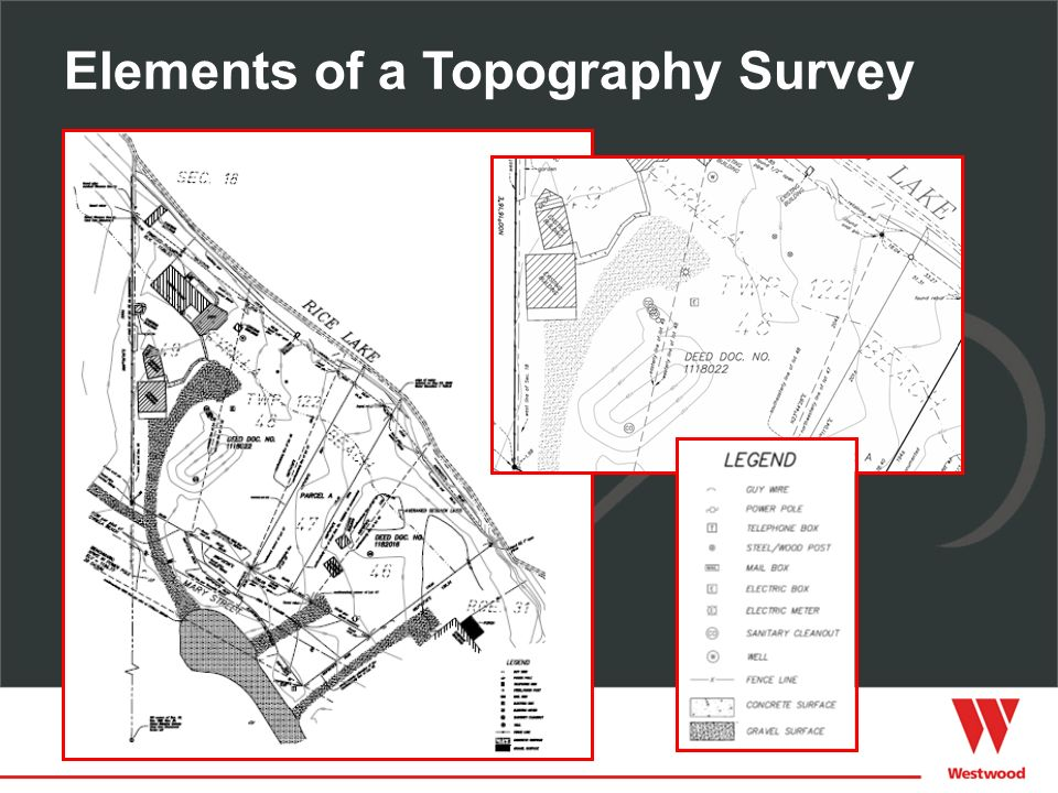 Elements of a Topography Survey