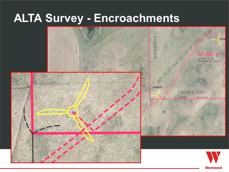 ALTA Survey - Encroachments
