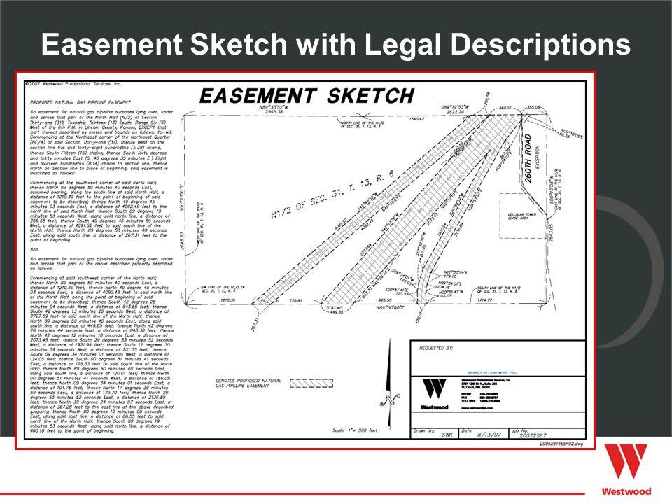 Easement Sketch with Legal Descriptions