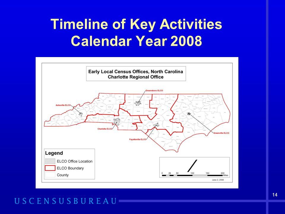14 Timeline of Key Activities Calendar Year 2008