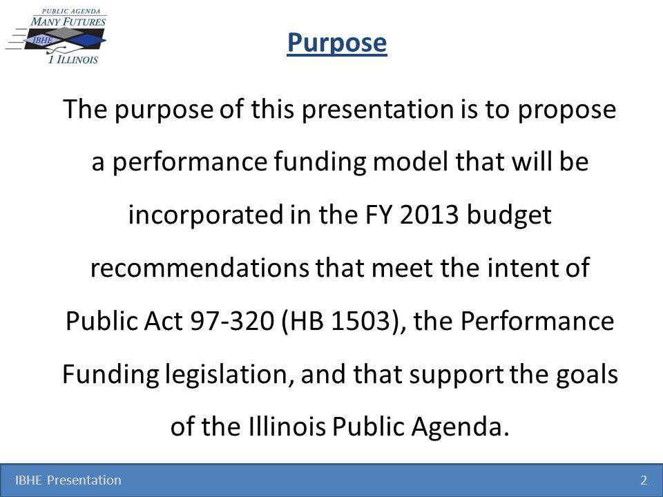 Performance Funding IBHE Presentation 13