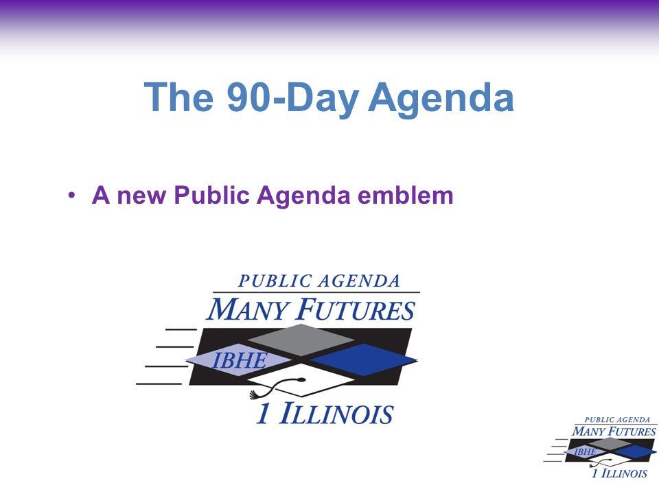 The 90-Day Agenda A new Public Agenda emblem