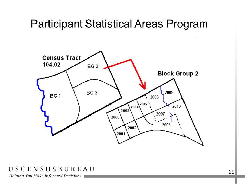 29 Participant Statistical Areas Program