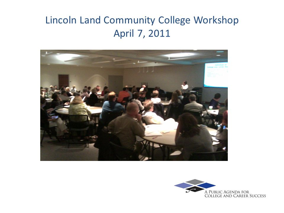 Lincoln Land Community College Workshop April 7, 2011