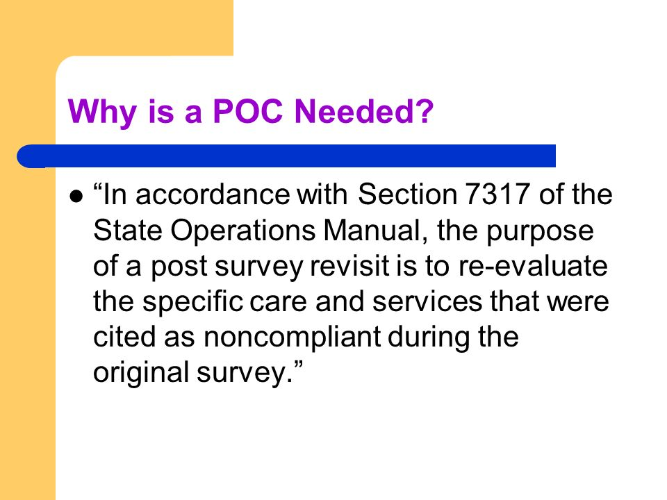Review of components for POC: Address how corrective action will take place for those residents affected by the deficient practice.