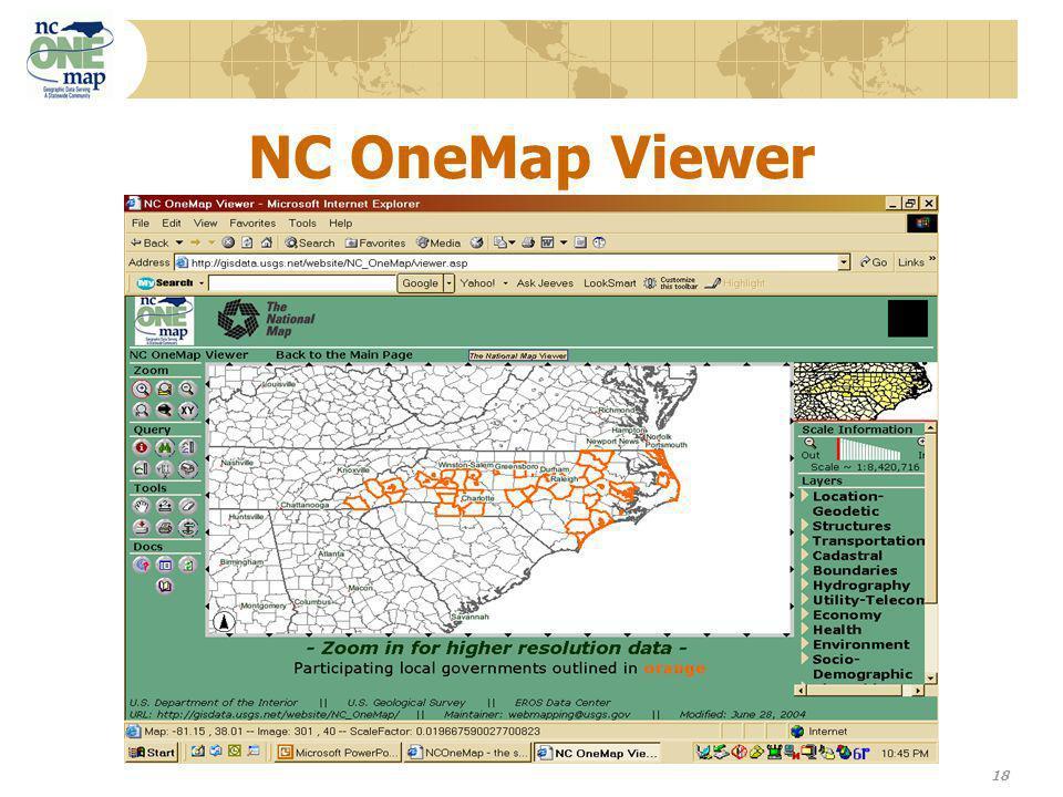 18 NC OneMap Viewer
