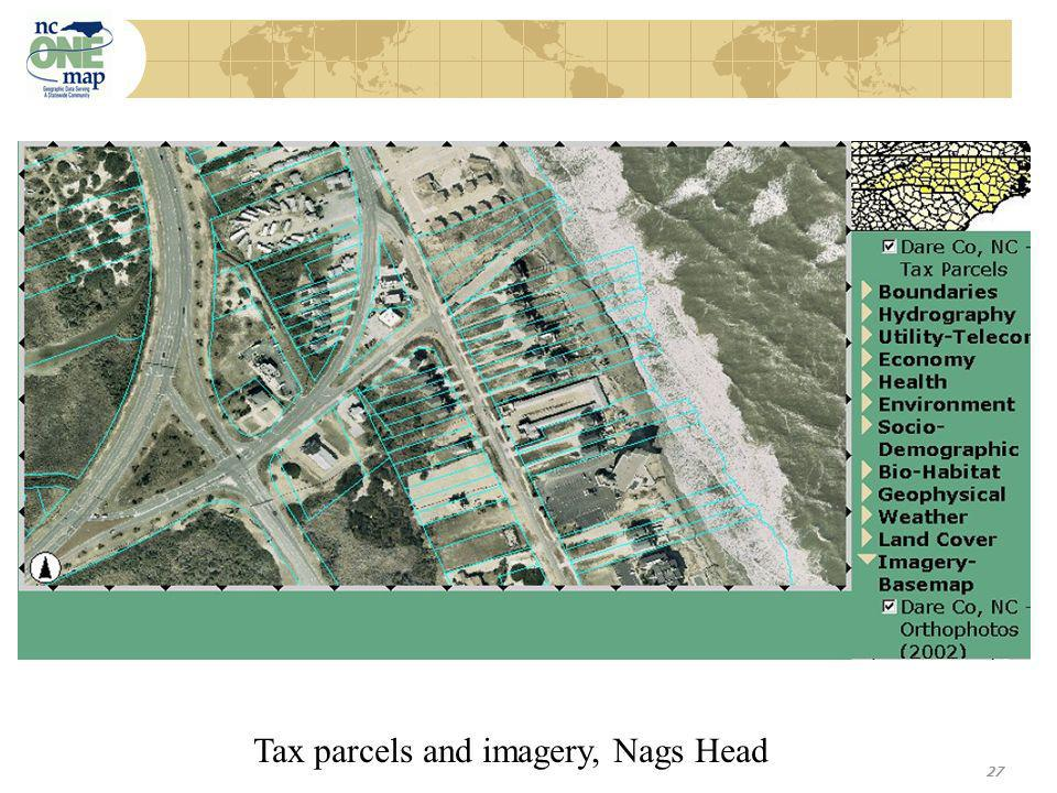 27 Tax parcels and imagery, Nags Head