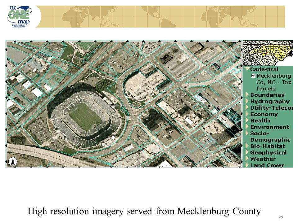 28 High resolution imagery served from Mecklenburg County