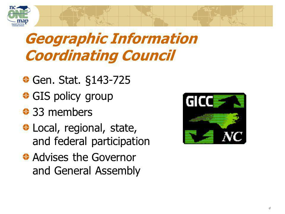 4 Geographic Information Coordinating Council Gen.