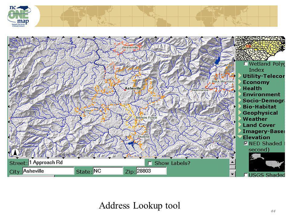 44 Address Lookup tool