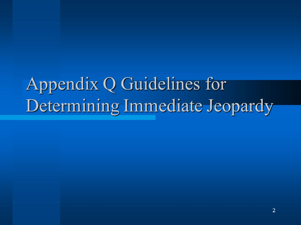 2 Appendix Q Guidelines for Determining Immediate Jeopardy