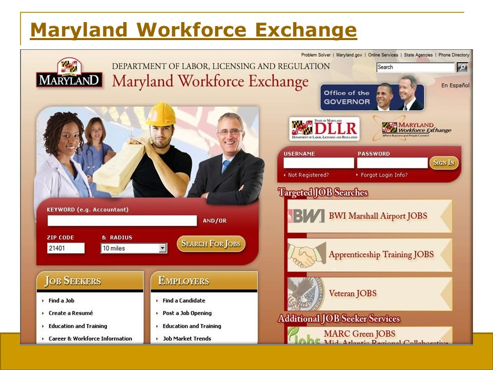 Maryland Division of Workforce Development 17