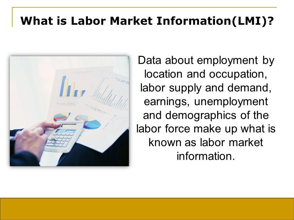 Why do I need Labor Market Information.