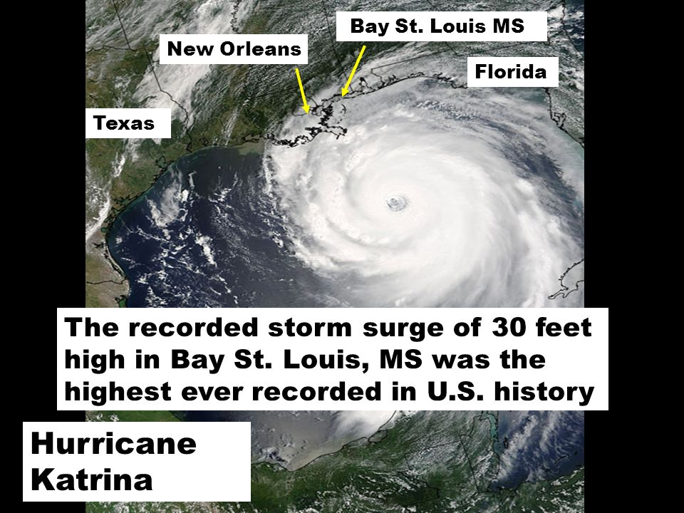 Hurricane Katrina New Orleans Texas Florida Bay St.