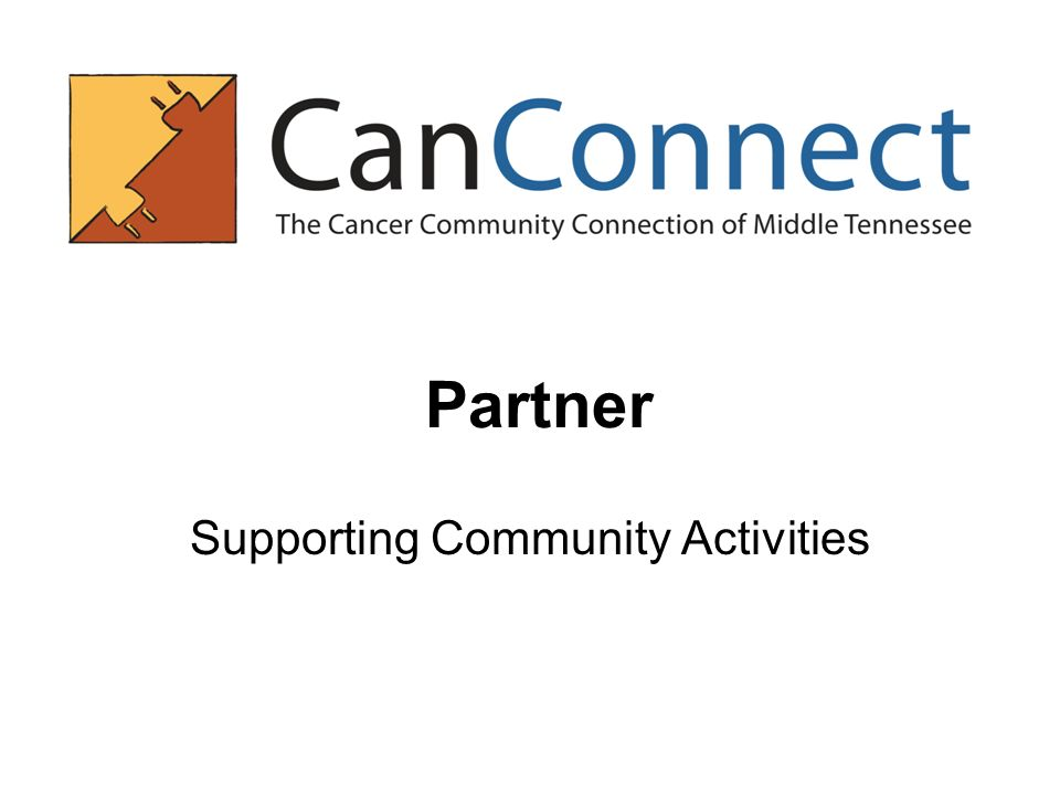 Partner Supporting Community Activities