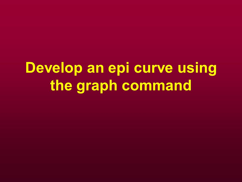 Develop an epi curve using the graph command