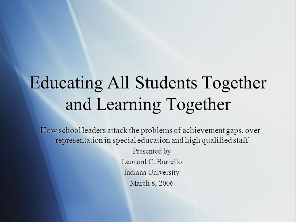 The Rule of Law and Special Education Practices What have we learned from educational reform to date.