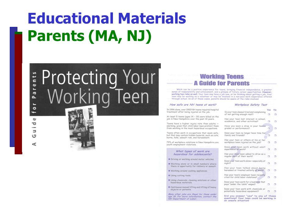 Educational Materials Parents (MA, NJ)