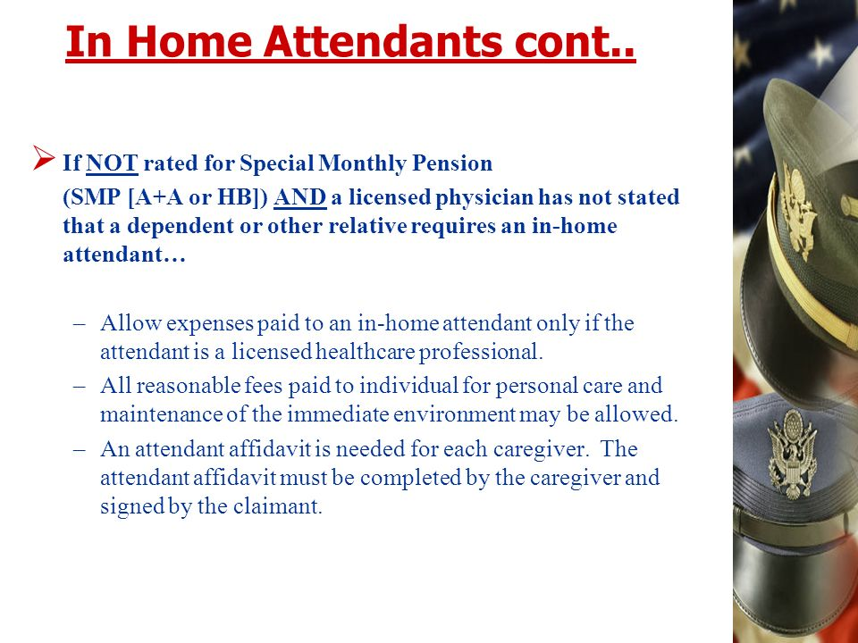 In Home Attendants cont..