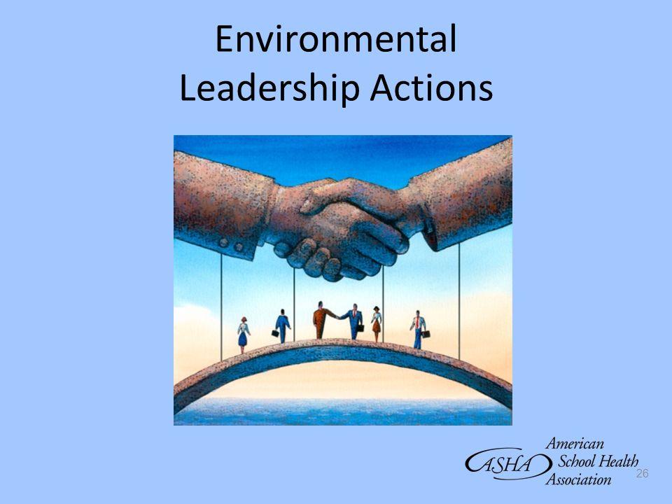 26 Environmental Leadership Actions