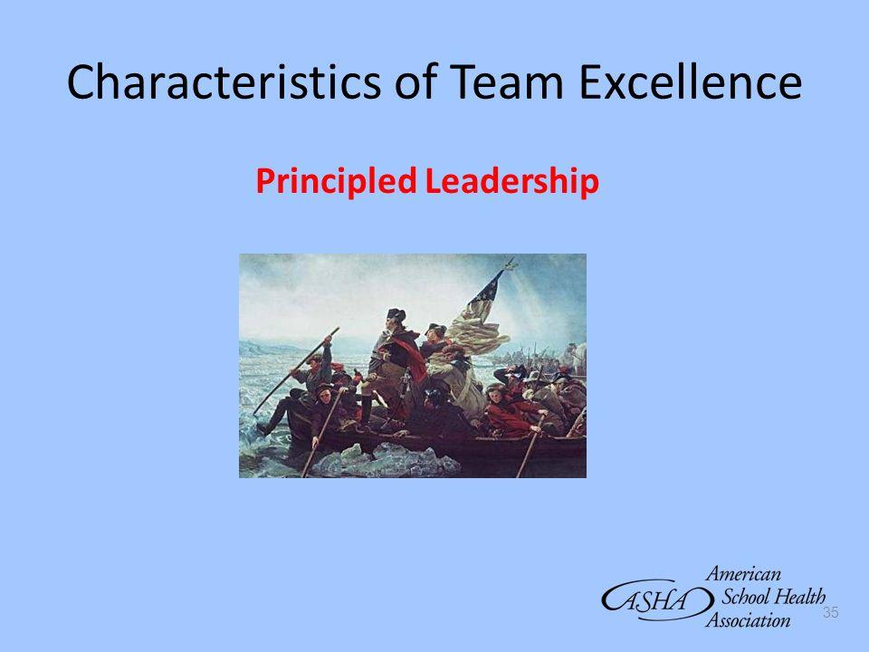 35 Characteristics of Team Excellence Principled Leadership