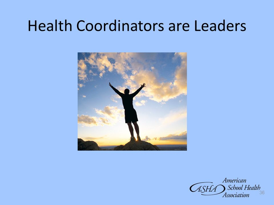 36 Health Coordinators are Leaders