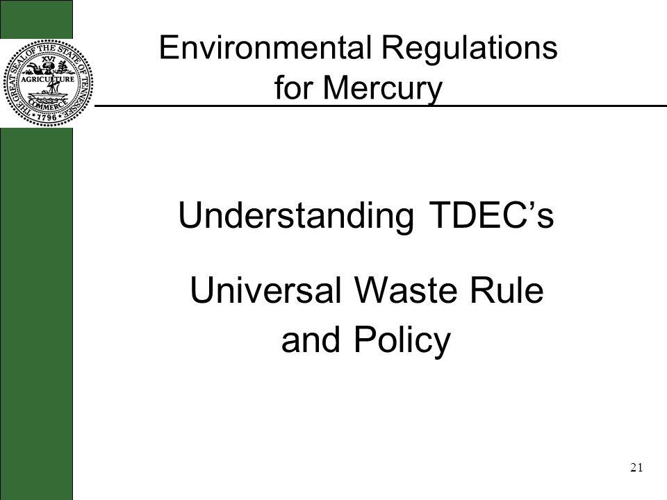 20 Environmental Rules
