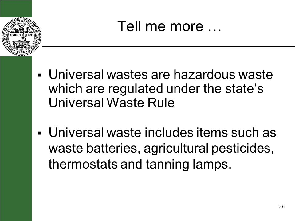 25 Types of waste … There are three types of wastes. Solid waste, hazardous waste, and special waste. Hazardous waste comes in many shapes and forms s