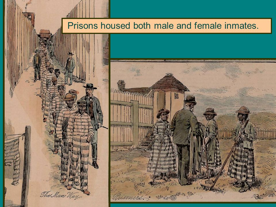 Prisons housed both male and female inmates.