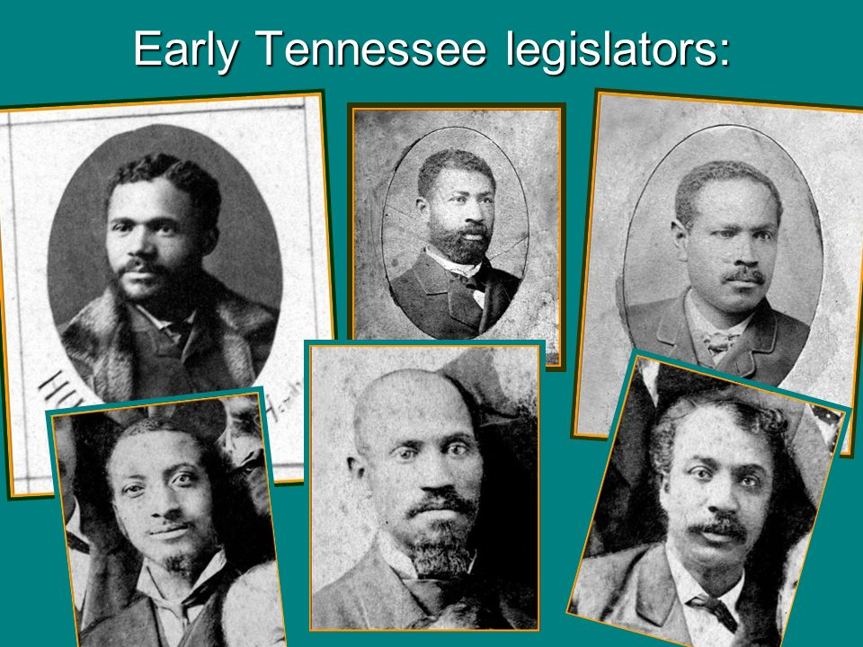 Early Tennessee legislators: