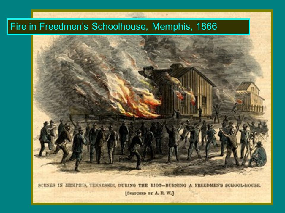 Fire in Freedmens Schoolhouse, Memphis, 1866