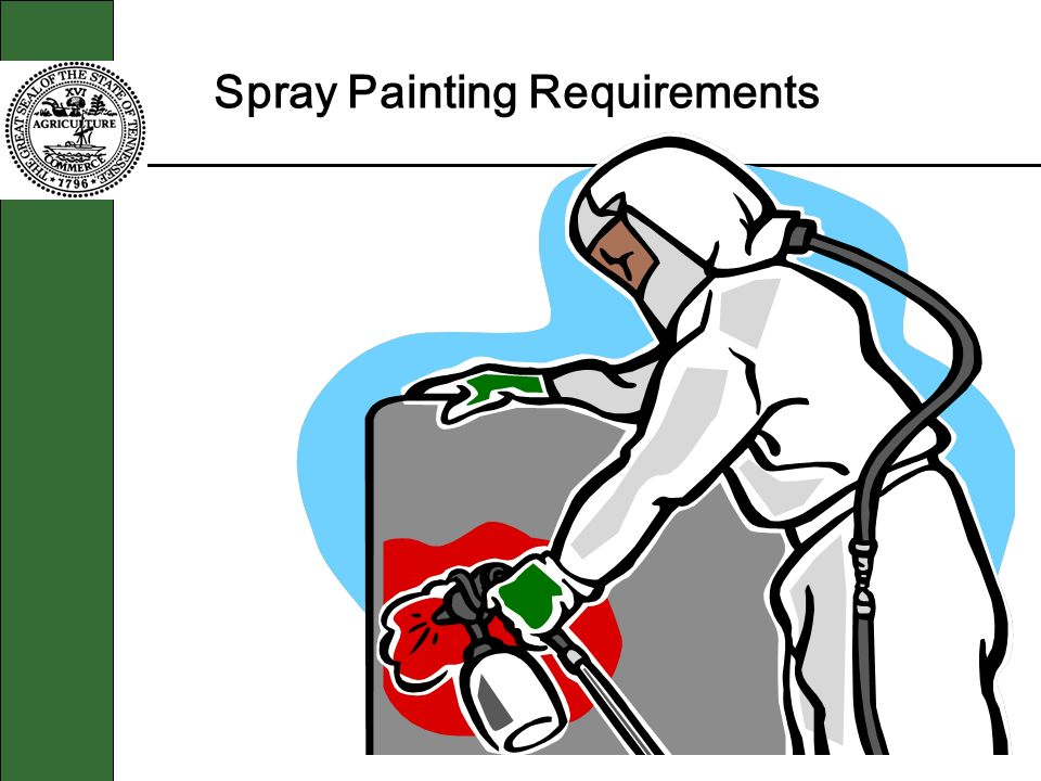 Spray Painting Requirements
