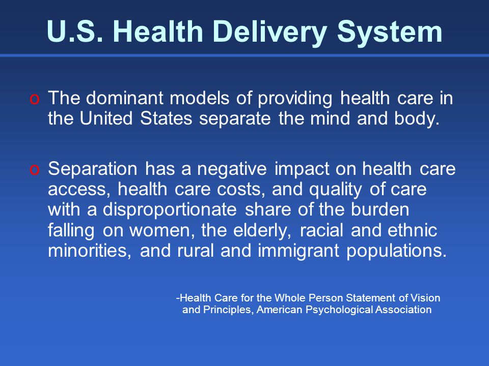 Integration oIntegration of mental health and substance abuse services to treat co-occurring disorders oIntegration of mental health/substance abuse services with primary care