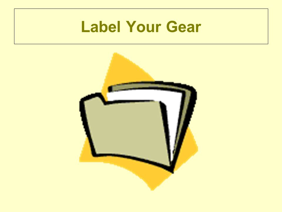 Label Your Gear