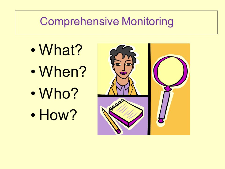 WHAT is Comprehensive Monitoring.