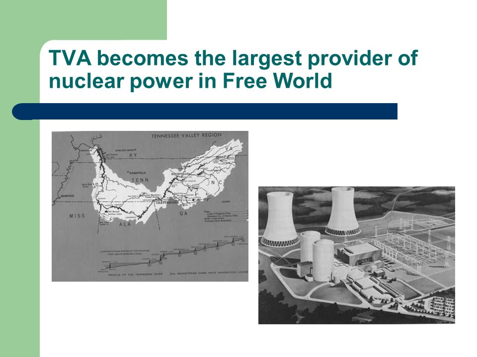 TVA becomes the largest provider of nuclear power in Free World
