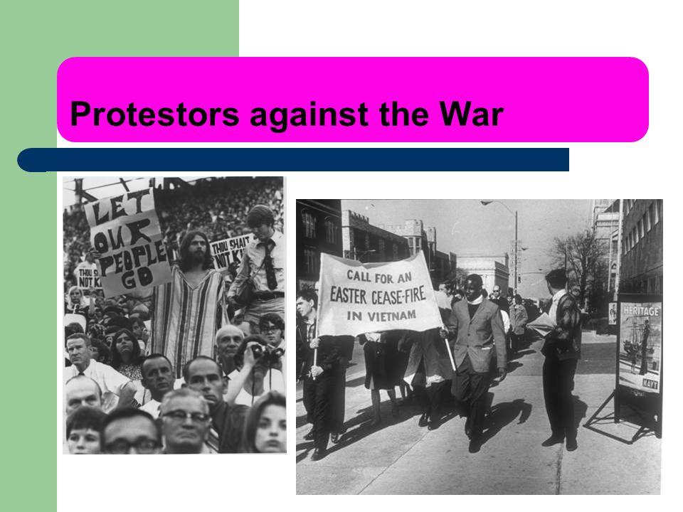 Protestors against the War