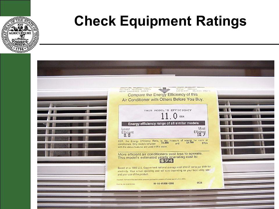 Check Equipment Ratings
