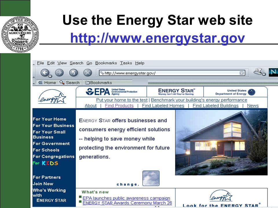 Use the Energy Star web site http://www.energystar.gov