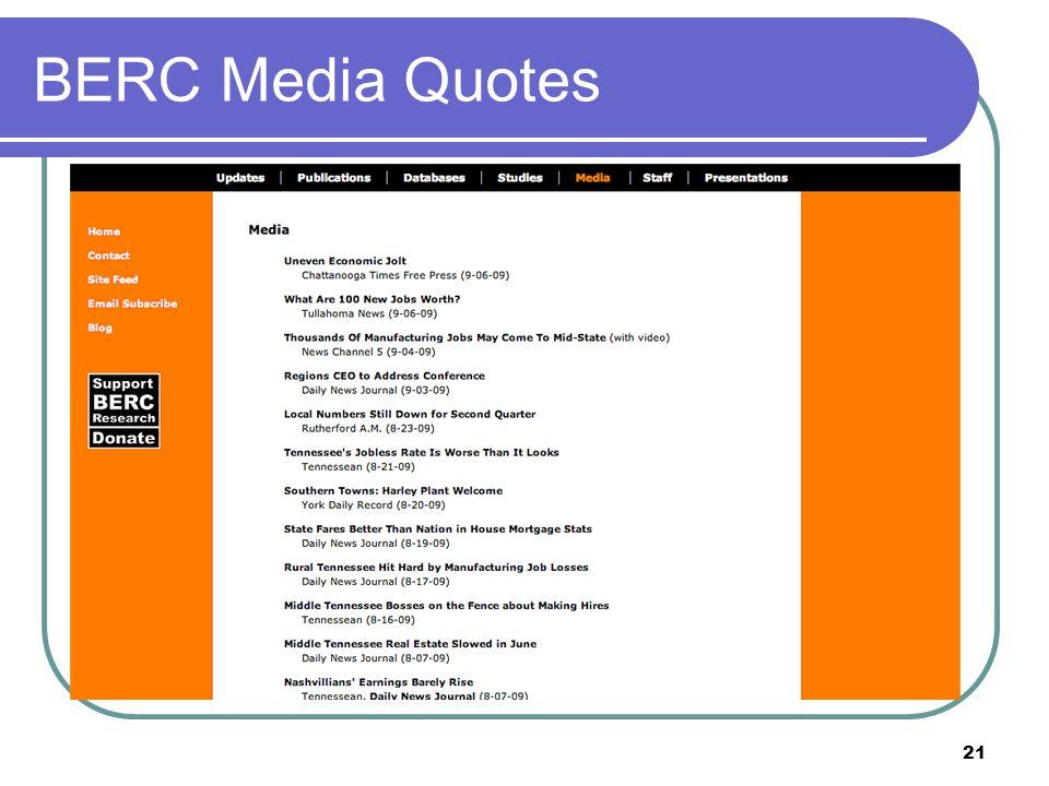 21 BERC Media Quotes