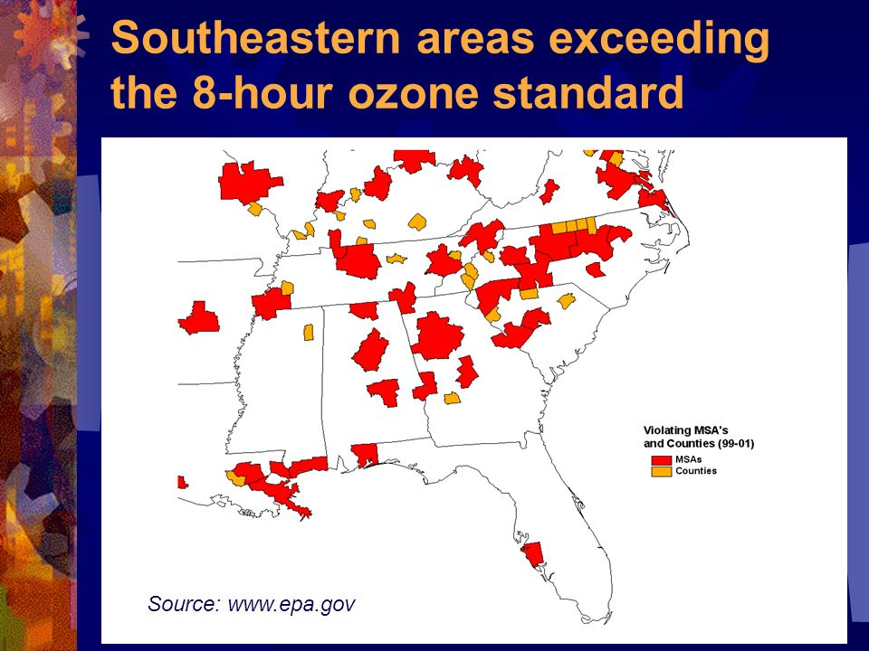 Ozone (O 3 ) is a colorless gas that is good up high, bad nearby Source: www.epa.gov
