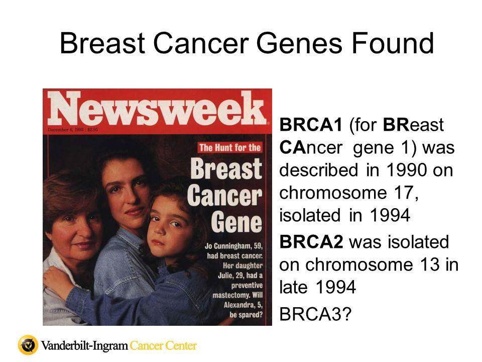 The Development of Hereditary Cancer 1 damaged gene 1 normal gene Tumor develops 2 normal genes 2 damaged genes In hereditary cancer, one damaged gene is inherited.