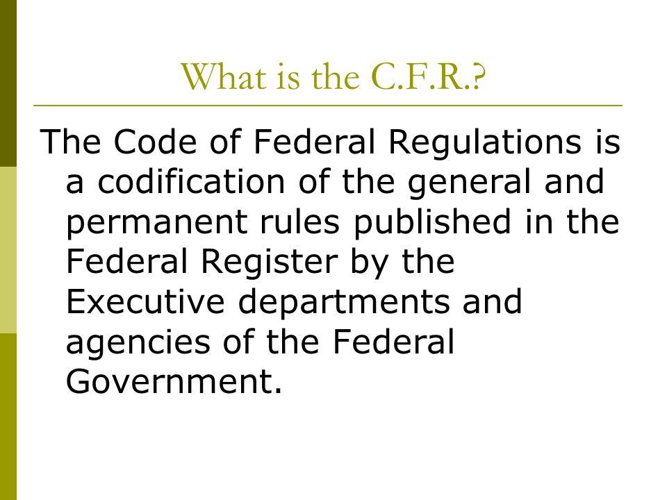 What C.F.R..