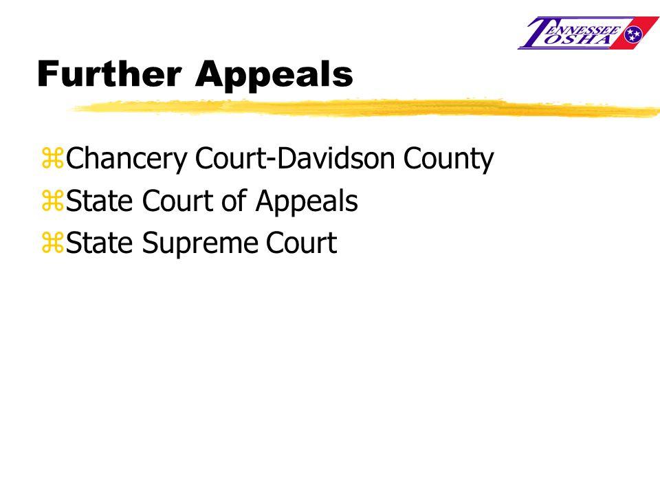Further Appeals zChancery Court-Davidson County zState Court of Appeals zState Supreme Court