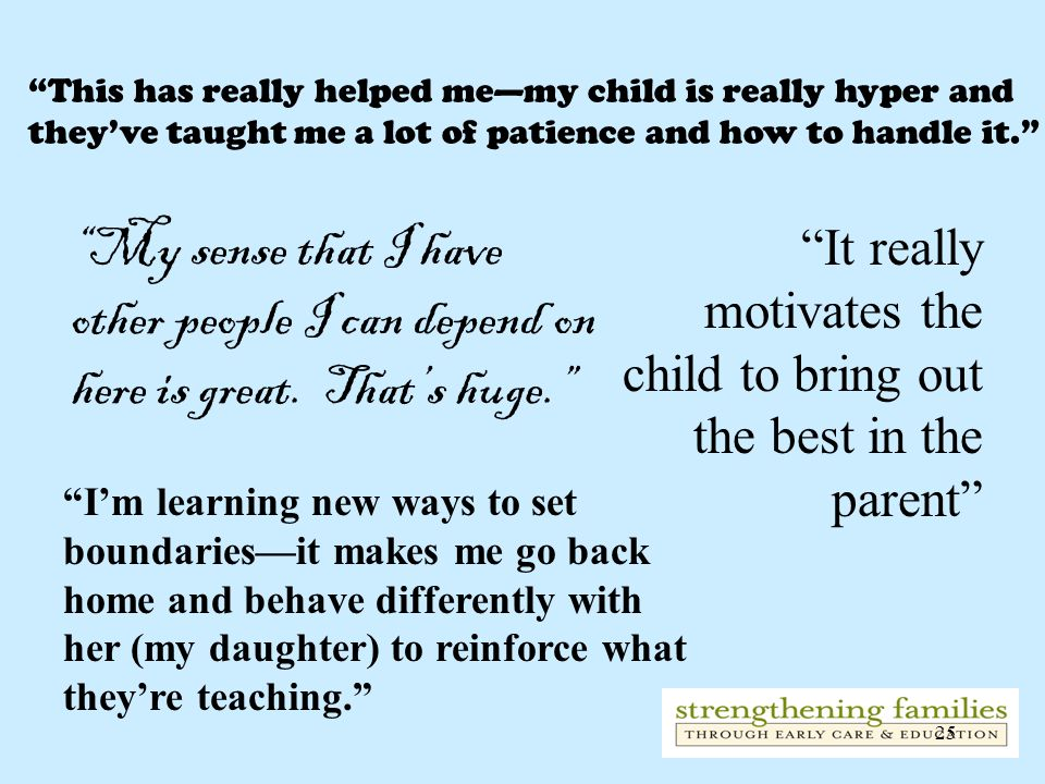 25 This has really helped memy child is really hyper and theyve taught me a lot of patience and how to handle it. It really motivates the child to bri